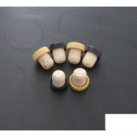 Dopuri de pluta cu capac de plastic negru / argintiu / auriu